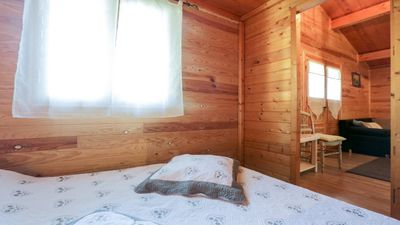 Photo for Warm wooden chalet - LA BUTTE BLANCHE