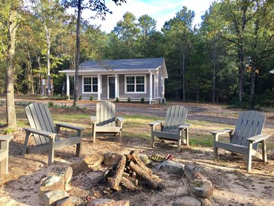Photo for Located on 25 wooded acres with fishing pond near the AR River & National Forest