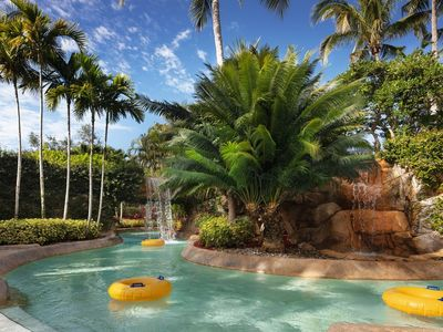 Photo for Beautiful 2bd 2 b condo located on golf course with lazy river and private beach