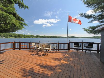 Photo for BEAUTIFUL WATERFRONT COTTAGE ON FRENCH RIVER