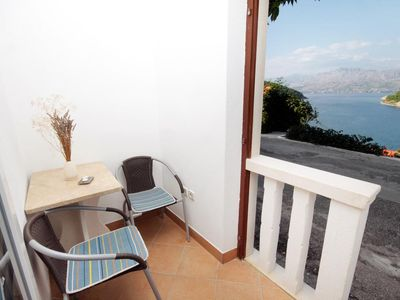 Photo for Studio flat with terrace and sea view Pučišća (Brač)