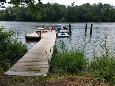 Photo for 1 Bedroom Waterfront B&B, with kayaks, canoes, private pier, pool & hot tub