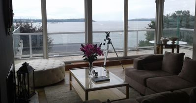 Photo for Stunning Harbour Views, Huge Terrace for al fresco dining & BBQ