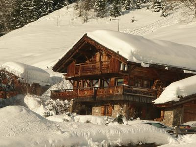 Photo for Individual chalet in Megève, typically Savoyard tastefully decorated, fireplace ...