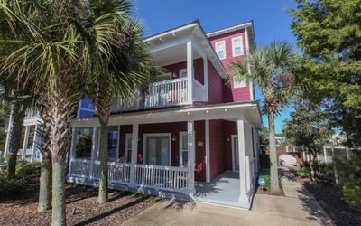Photo for Seagrove home with gulf views, private pool, 500 steps to the beach