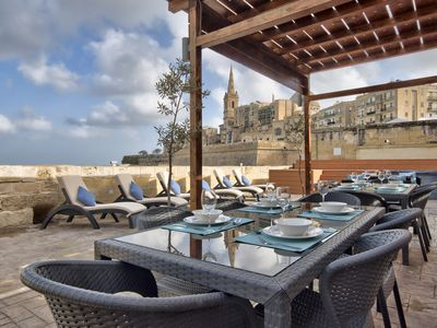 Photo for Waterfront Valletta House With Pool