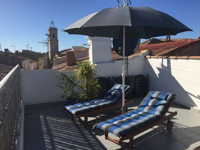 Photo for Romantic house with historic tower in the Center of Marseillan, great sun-terra,