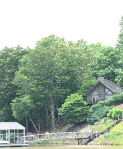 Photo for Beautiful Lakefront Home with Wrap Around Porch, Private Covered Dock & Fire-pit