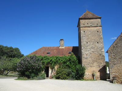 Photo for Le Pigeonnier, Beautiful stone farmhouse in private hamlet with 20 acres of land