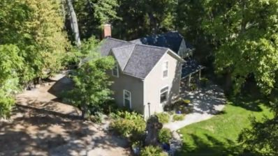 Beautiful private century home with heated pool and hot tub.
