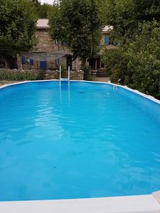 Photo for Provencal farmhouse with pool in Forcalquier
