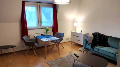 Photo for Urban, newly furnished apartment in Frankfurt, scandinavian-inspired