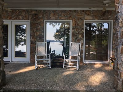 Photo for Lake Front Great Views Sleeps 6 /2 Baths Quiet Cove Easy walk to the Dock