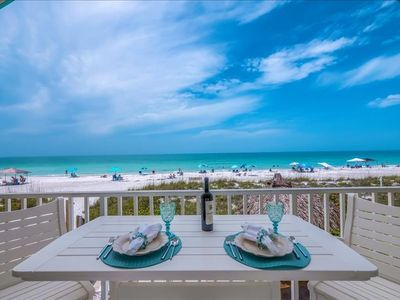 Photo for WATCH THE JULY 4TH FIREWORKS FROM YOUR BALCONY ~ DIRECT BEACHFRONT CONDO SLEEPS 4, WITH POOL