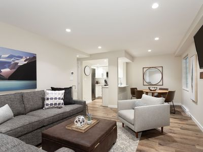 Photo for Designer Condo close to lifts. Large pool & hot tub, free wifi & secure parking