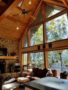 Photo for A Dog-Friendly Vacation Home in Mountains - Skiing, Golf, Hiking, Indoor Pool
