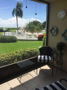 Photo for Beautiful condo just steps from the pool with a water view