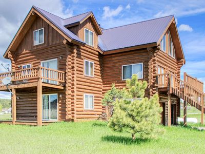 Photo for Cozy mountain cabin w/ loft, pool table, fireplaces, & deck - close to water