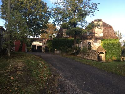 Photo for stone longhouse with swimming pool in the heart of the vineyards of Monbazillac