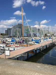Photo for 3-room Penthouse apartment with roof terrace and balcony directly at the marina!