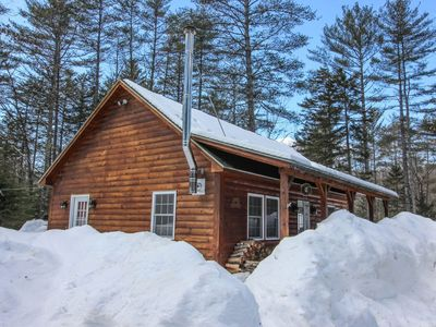 Photo for Cozy Log Cabin near Sunday River, Hike, kayak, golf, spa, bike