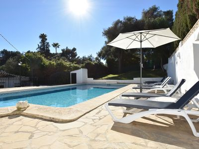 Photo for Spanish villa for 6 p spacious terrace, close to the beach with large pool