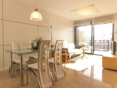 Photo for Cosy apartment for 6 people with A/C, pool, TV, balcony and parking