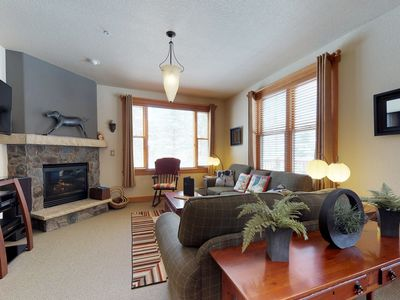 Photo for NEW LISTING! Updated condo w/shared pool, hot tub & sauna, plus private garage!