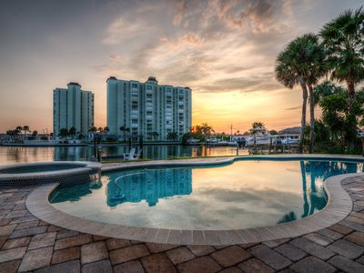 Photo for Water Front Oasis: Unexpected Luxury: 5 Blocks to Beach: Optional Heated Po