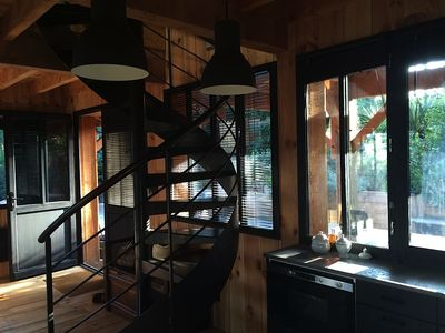 Photo for LOVELY CABIN WOOD DECORATED WITH TASTE ON THE HEIGHTS Piraillan