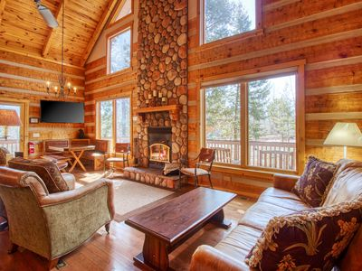 Photo for Log cabin in the heart of Woodland Park, private hot tub and sauna