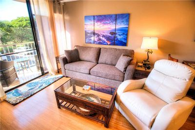 Great Space - The living room furnishings are comfortable, the view is spectacular, and the Hawaiian experience is just around the corner. Book your stay at Pacific Shores A-204 today!