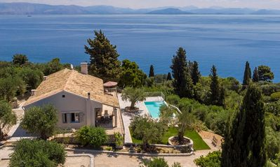 Photo for Unique & Beautifully Restored Villa, A/C, Private Infinity Pool, Fitness Room & Magical Sea Views!