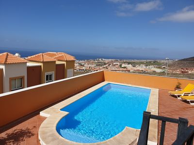 Photo for Villa Roque del Conde with private pool, terrace with fantastic sea view, Wifi