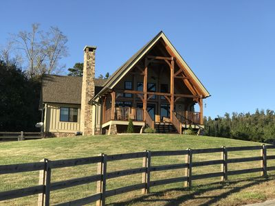 Timber frame guesthouse on our farm will not disappoint
