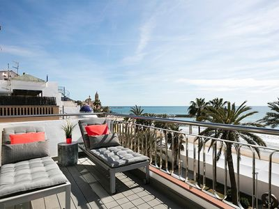 Photo for In the center of Sitges with Internet, Air conditioning, Lift, Terrace (647284)