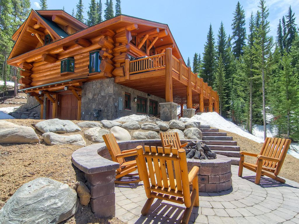 Bear creek cabin stunning log home w homeaway for Cabin rentals breckenridge