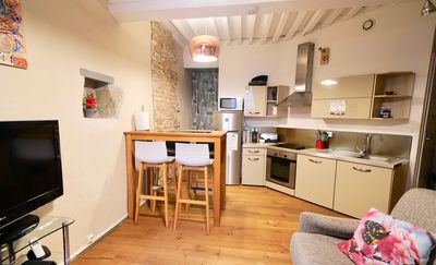 Photo for 4 * luxury loft with SAUNA / WifI in old annecy