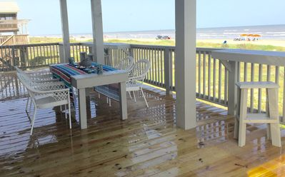 Outdoor seating for ten at table and two deck bars with stools!  The View!  WOW!