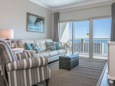Photo for Upscale condo w/ Gulf and lagoon views, multiple pools, hot tub & lazy river!