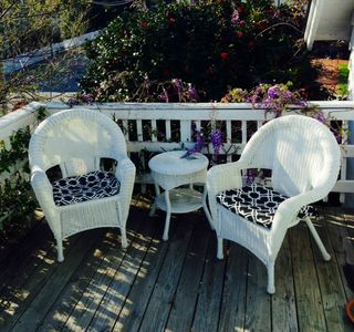 your own roof top deck overlooking old town Manteo