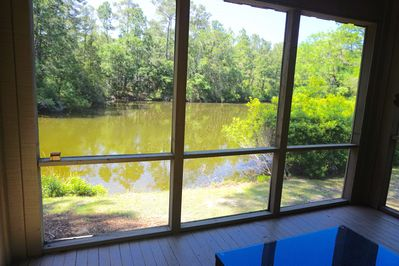 View of Lagoon from deck and screened porch