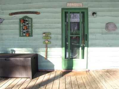 Cottage Front Door and Porch