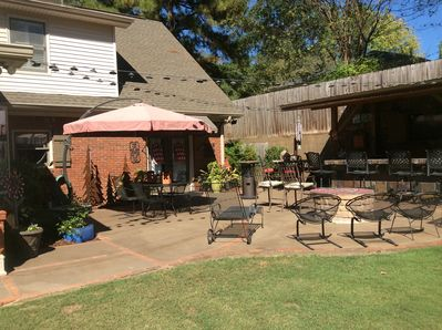 Outdoor patio/kitchen and 50 inch TV great for entertaining.