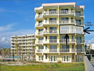 Our condo is 1 of 10 condos directly ON THE BEACH with a wrap around porch!