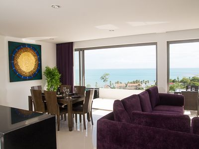 Photo for 2 bedroom sea view apartment with pool