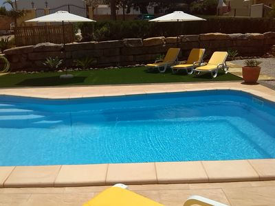 Photo for Apatment 3 Rooms near Albufeira Algarve, Pool, WIFI, AC, Tabel tennis, BBQ