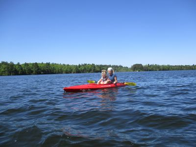 Kayaking the 90% State Forested Shores of Mann Lake. We rent kayaks daily/weekly