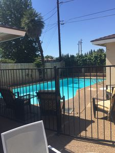 Large fun pool that is serviced weekly and always clean