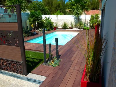 Photo for Contemporary villa 140 m² with swimming pool nearby beaches